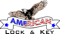 My American Lock and Key Logo
